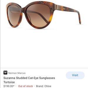 Chloe Brown Tortoise Suzanna Cat Eye Sunglasses